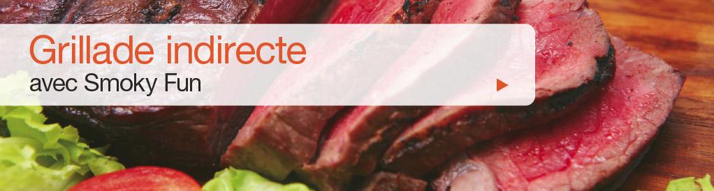 Les aliments sont grillés à une température allant de 160°C à 260°C. Ils sont placés directement sur la grille à l'intérieur de la chambre de cuisson ou sur la plaque en fonte (voir les accessoires) qu'on place dans la chambre de cuisson adjacente à la chambre de combustion (pour griller les steaks notamment). Ce type de cuisson utilise un flux d'air chaud constant et fonctionne sur le même principe que les fours à air chaud. Les aliments ne sont pas en contact direct avec le feu ni avec la chaleur directe ce qui évite de les brûler.